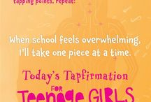 The Tapping Solution for Teenage Girls: How to Stop Freaking Out and Keep Being Awesome / Tapfirmations (Tapping Affirmations) for Teenage Girls, Inspiration, Motivation, Helping Girls Use Tapping to Release Stress and Upset.