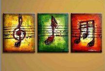 cuadros con inst. musicales