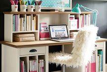 Girl Homework desk