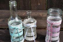 Alte Gläser und Flaschen
