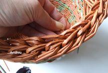 Pletení z papíru návody