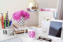 Work/desk inspo / by Samantha Marinelli