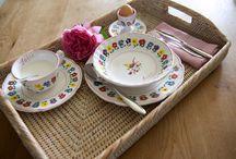 Bontempo ceramiche 1862 baby shower / servizio pappa in ceramica personalizza e dipinta a mano, baby dinnerwere set