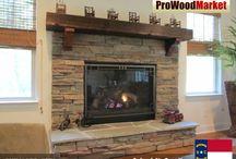 Fireplace Mantel - Western Red Cedar
