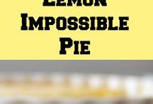 Dessert lemon pie