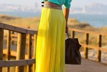 жёлтая юбка