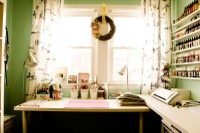 Craft Rooms / cute ideas for my home office/craft room / by Linda Roessler