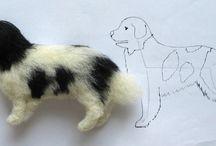 Vilten hond/wolf