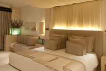 Drapes over bed