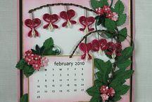 Quilled calendar