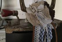 broche lin dentelle / Broche qui embellira toutes vos vestes ou manteaux