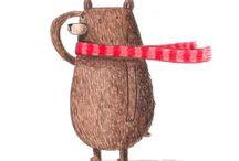 Theme - bears / Bears illustrations