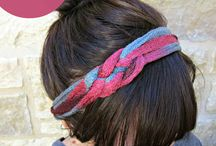 Head bands and hair pieces