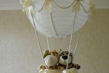 Lámpara bebe / Lámpara hecha de globo