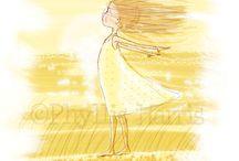 Meninas ao vento