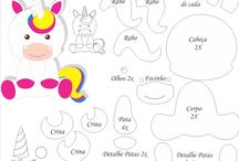 unicornio molde