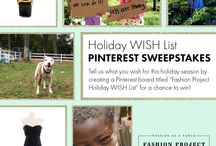 """Holiday WISH List: Using Fashion as a Force for Good / Holiday wishes for making the world a better place, whether through your closet or by supporting your favorite cause. What's your Holiday Wish List? Create a board titled """"Fashion Project Holiday WISH List,"""" including #FashionProjectWISH in each pin's description, and you could win a $100 Fashion Project gift card! / by Fashion Project"""
