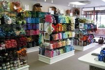 yarn shop displays / by Sunflower Fibers