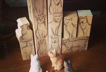 gatos esculturas