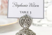Wedding Place Card Holders & Table Numbers / A place for everyone ... and everyone in their place! Some of our favorite ideas for creative wedding place card holders at your reception.
