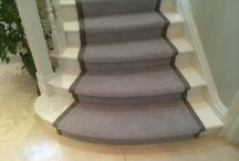 Luxury Staircase Runner Installation / Client: Private Residence In West London Brief: To supply & install carpet as a runner with black border to stairs