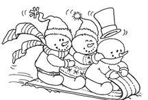 Trineo de niños de nieve