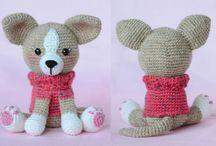Crochet dog -pejsci