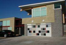 Modern Garage Doors / A look at whats hip with modern garage doors.