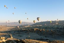 Up & away on my beautiful balloon / Floating in an hot air balloon over the magnificent landscape of Cappadocia, Turkey  #cappadocia #turkey #balloons #flying