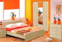 Oranžová spálňa - orange bedroom