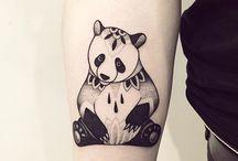 Panda bear tattoo