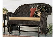 Outdoor Resin Wicker Furniture Love Seat Glider Beige Garden Furniture Sets