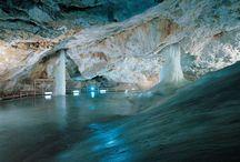 caves, waterfalls, rivers, oceans