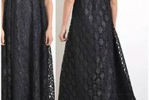 lace black guipure maxi long dress