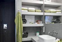 Grey small bathroom