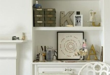 shelves and alcoves