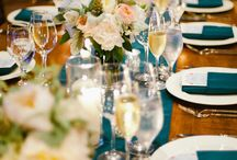 gold and teal wedding
