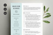 Resume designs / modern resume layout and design