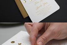Stone & glitter invites