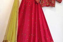 2696 Non S789 Bridal lehenga choli / Featuring a pink color lehenga with work on bottom and with Sequence work on Pink colord blouse. It comes along with Lace work on Net parrot color dupatta.