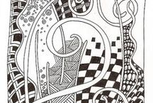 dessin ... zentangle