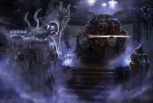 WH40k - Art (no Eldar) / Warhammer 40k Artwork / Art / Drawings / Wallpaper