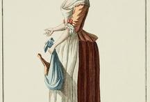 XVIII cantiniere, vendeuse / XVIII wiek sprzedawczynie, markietanki, chlopki