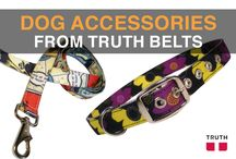 Dog Leashes and Collars from Truth / Truth Belts makes dogs leashes and collars! Both the Duke Dog Leash ($25.00) and the Zoey Dog collar ($30.00) come in wild patterns. Get the same pattern for both, or mix and match the two. And just like our belts, these are vegan too :)  www.truthbelts.com / by Truth Belts - Vegan Fashion