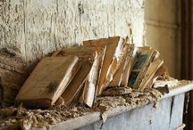 old worn out Bibles and books / by Laura Norton-Busuttil