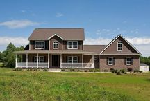 Pine Valley House Plan / Over 2,600 square feet in this country style plan includes 5 bedrooms, 3 1/2 baths, 2-car garage, walk-in closets, large master suite, 2-story open foyer. #Sedgewick_Homes #NC_homebuilder #NC_custom_builder