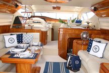 Design. Yacht interior and decor