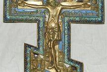 крест эмаль медное литье