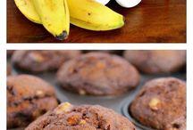 Banana chocolate muffins 3 ingredients