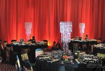 Cahoots Corporate Events / Lighting, linen, drapes and table centers